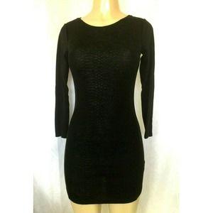 H&M Divided Little Black Dress Mini Sheath Snake